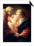 The Holy Family, 1740S Posters af Pompeo Batoni