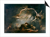 The Shepherd's Dream, from Paradise Lost, 1793 Posters by Henry Fuseli