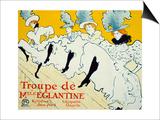 La Troupe De Mlle Eglantine, 1896 Arte por Henri de Toulouse-Lautrec