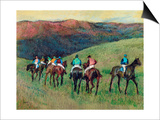 Racehorses in a Landscape, 1894 Posters by Edgar Degas