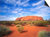 Ayers Rock, Uluru National Park, Northern Territory, Australia Posters by Larry Williams