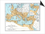 Map of the Roman Empire, 2nd Century Ad Art