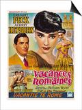 Roman Holiday, from Left, Gregory Peck, Audrey Hepburn, 1953 Prints