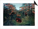 Henri Rousseau - The Tropics, 1910 Obrazy