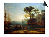 Arrival of Aeneas in Italy, Morning of the Roman Empire, C.1620-1680 Posters by Claude Lorrain