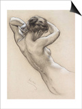 Study for a Water Nymph, Late 19th or Early 20th Century Posters by Herbert James Draper