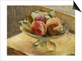 A Bowl of Peaches; Le Compotier De Peches, C.1889 Prints by Edouard Vuillard