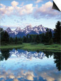 Wyoming, Grand Teton National Park, Rocky Mts, the Grand Tetons and Snake River Posters by Christopher Talbot Frank