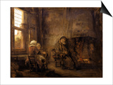 Tobit and Anna Waiting for the Return of their Son, 1659 Posters by  Rembrandt van Rijn