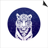 Tiger and Stellar Sky. Print by  MargaritaSh