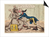 Political Ravishment, or the Old Lady of Threadneedle Street in Danger!, 1797 Print by James Gillray