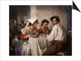 Carl Bloch - In a Roman Osteria, 1866 Obrazy