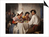 In a Roman Osteria, 1866 Prints by Carl Bloch