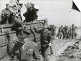 U.S. Chiefs Make Inspection in France a Week after the D-Day Invasion in Normandy, June 14, 1944 Plakater