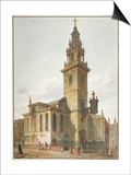 View of the Church of St James Garlickhythe, City of London, 1811 Print by John Coney