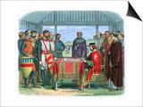 King John Signing the Magna Carta at Runnymede, Surrey, 15 June 1215 Posters