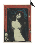 Madonna - Liebendes Weib, C. 1895-1902 Prints by Edvard Munch