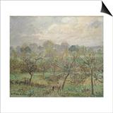 Autumn, Morning Mist, Eragny-Sur-Epte, 1902 Lámina por Camille Pissarro