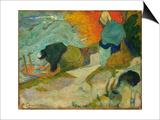 Washerwomen in Arles (Laveuses A Arle), 1888 Print by Paul Gauguin