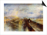 Rain, Steam and Speed - the Great Western Railway, C1844 Print by Joseph Mallord William Turner