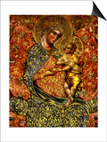 Madonna and Child Enthroned with Two Angels Poster von Paolo Veneziano