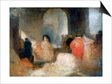 Dinner in a Great Room with Figures in Costume, C1830-1835 Prints by Joseph Mallord William Turner