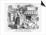 The Pig and the Peasant, 1863 Posters by John Tenniel