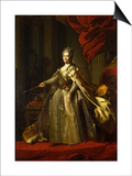 Portrait of Empress Catherine II (1729-179), 1775-1780 Prints by Fyodor Stepanovich Rokotov