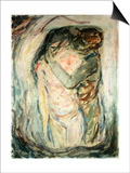The Kiss, C.1910 Prints by Edvard Munch