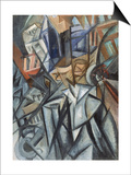 Man on the Street (Analysis of Volume), 1913 Plakater av Olga Vladimirovna Rozanova