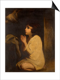 The Infant Samuel Prints by Sir Joshua Reynolds