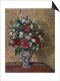 Still Life with Peonies and Mock Orange, 1872-1877 Prints by Camille Pissarro