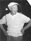 President Dwight Eisenhower Smiling While Golfing, Ca. 1954 Prints