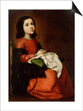 The Childhood of the Virgin, C1660 Posters by Francisco de Zurbarán