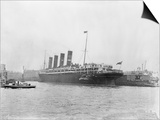 RMS Lusitania in New York Harbor Prints