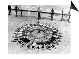 Formation on a Beach in the USA, 1927 Posters by  Scherl