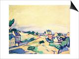 The Island of Brehat, 1911 Art by Samuel John Peploe