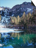 California, Sierra Nevada, Inyo Nf, Mammoth Lakes, Frozen Emerald Lake Prints by Christopher Talbot Frank