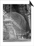 Zeppelin Lz 129 'Hindenburg' under Construction Poster by  Scherl