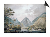 View of Vaitepiha Valley, Tahiti, 1777 Prints by John Webber