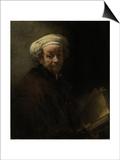Self Portrait as the Apostle Paul, 1661 Prints by  Rembrandt van Rijn