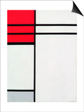 Piet Mondrian - Composition (A) in Red and White, 1936 - Reprodüksiyon