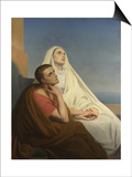 Saints Augustine and Monica, 1854 Print by Ary Scheffer