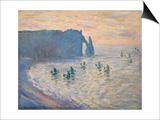Cliffs at Etretat, 1885-1886 Poster by Claude Monet
