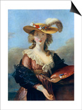 Self Portrait in a Straw Hat, C1782 Posters par Elisabeth Louise Vigee-LeBrun