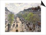 Boulevard Montmartre, Spring, 1897 Poster par Camille Pissarro