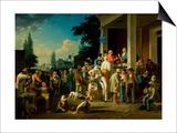 The County Election, 1852 Posters by George Caleb Bingham