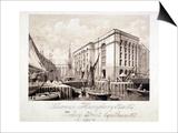 View of John Humphrey's Dock and Hay's Wharf, Tooley Street, Bermondsey, London, 1857 Posters