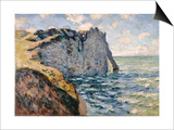 The Cliff of Aval, Etretat, 1885 Posters by Claude Monet
