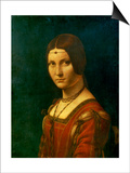 Portrait of an Unknown Woman (La Belle Ferronier), C1490 Prints by  Leonardo da Vinci